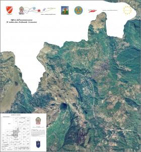 Veduta aerea del territorio di Rionero Sannitico