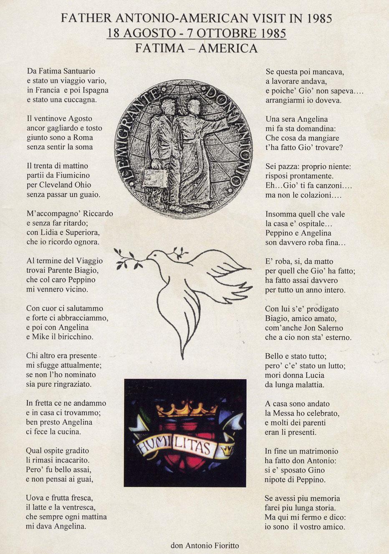 Poesia Don Antonio Fioritto